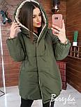 Жіноча двостороння зимова куртка Зефирка (в кольорах), фото 6