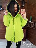 Жіноча двостороння зимова куртка Зефирка (в кольорах), фото 7
