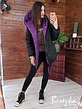 Жіноча двостороння зимова куртка Зефирка (в кольорах), фото 8