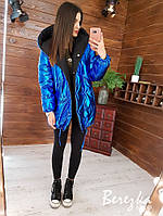 Женская двухсторонняя зимняя куртка Зефирка (в расцветках)