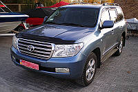 Дефлектор капота Toyota Land Cruiser 200 2007-2012-2016 (Люкс вариант)