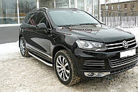 Дефлектор капота Volkswagen Touareg 2010-2016 (Люкс вариант)