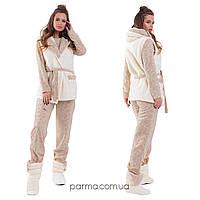Женская теплая пижама с жилеткой и сапожками (р.42-46,46-48,50-52,52-54)