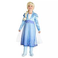 Карнавальный костюм принцессы Эльзы «Холодное Сердце 2 » ДеЛюкс, Frozen 2 Disney