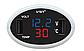 Многофункциональные автомобильные электронные часы VST 708-1 | термометр вольтметр | автомочасы, фото 2