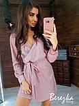 Женское сияющее платье на запах с люрексом (в расцветках), фото 7