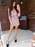 Женское сияющее платье на запах с люрексом (в расцветках), фото 8