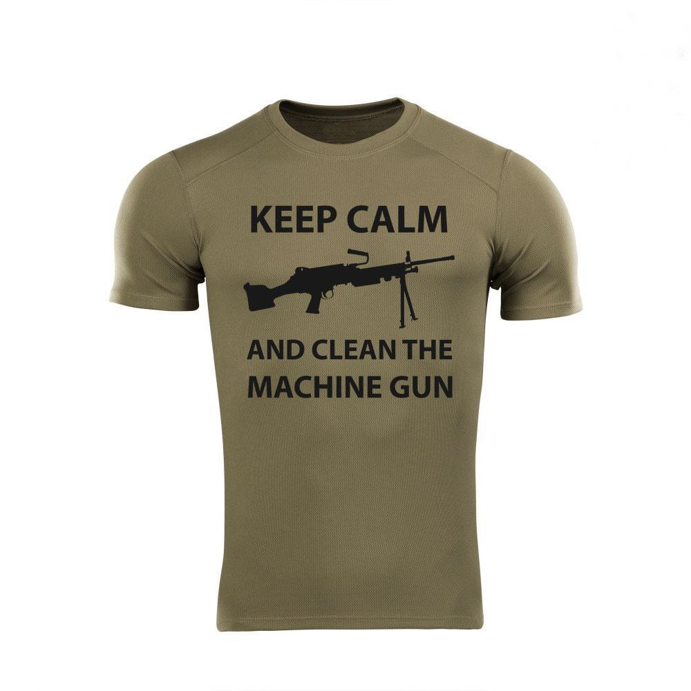 "Футболка coolmax Grom ""Keep calm and clean machine gun"" (FN Minimi) Олива S"