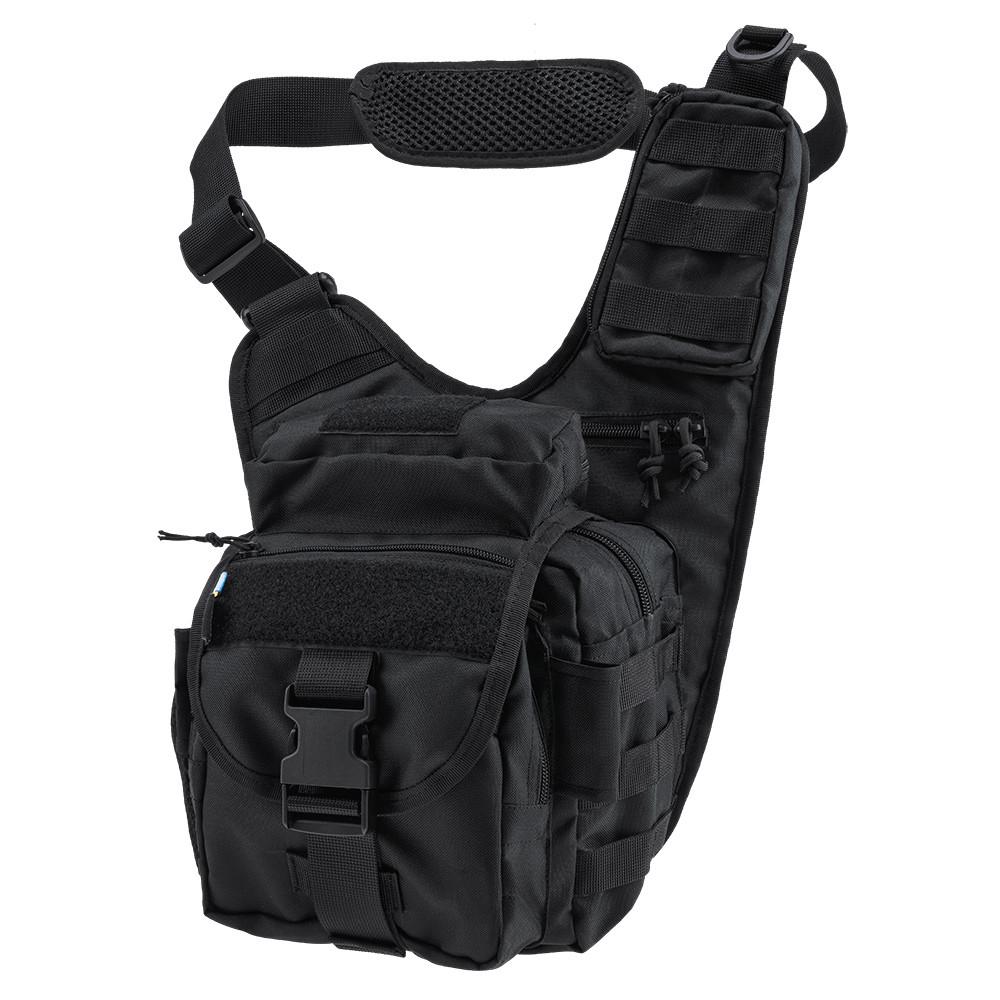 Тактична плечова сумка EDC L Black