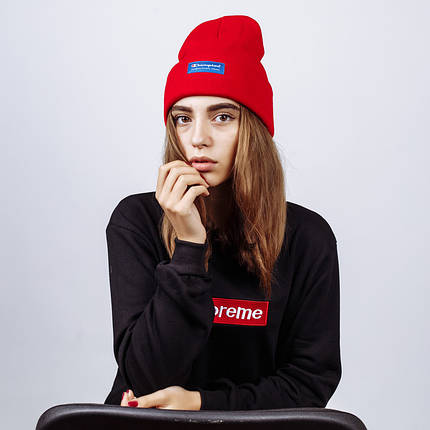 Женская шапка в стиле Champion зимняя / демисезонная, фото 2