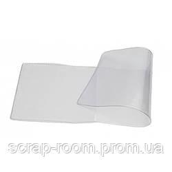 Обложка на удостоверение прозрачная, прозрачная обложка, размер 215 мм х 80 мм, плотность 250 мкр.