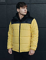 Мужская зимняя куртка Staff retro black and yellow