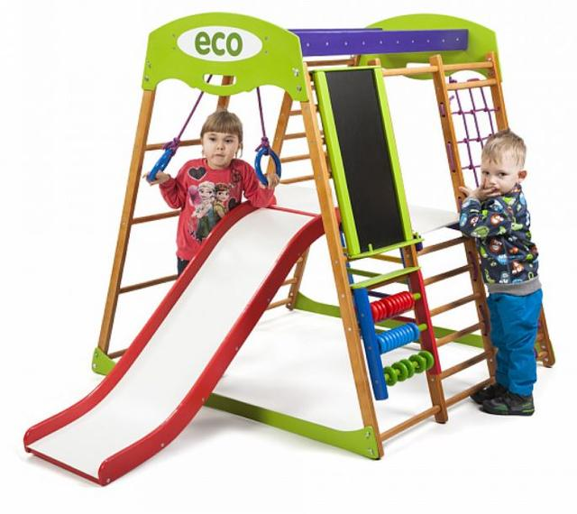 Детский спортивный комплекс для квартиры Карамелька Plus 3 (8)