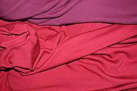 С начесом.  Ткань вискоза трикотажная стрейчевая, марсала (1,7м ширина), фото 1