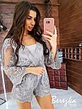 Женский стильный комбинезон ромпер с кружевом (в расцветках), фото 3