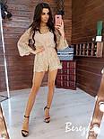 Женский стильный комбинезон ромпер с кружевом (в расцветках), фото 4
