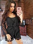 Женский стильный комбинезон ромпер с кружевом (в расцветках), фото 6