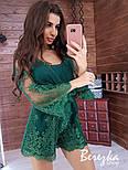 Женский стильный комбинезон ромпер с кружевом (в расцветках), фото 8