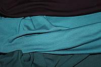 С начесом.  Ткань вискоза трикотажная стрейчевая, мокская волна зеленая светлая (1,55м), фото 1