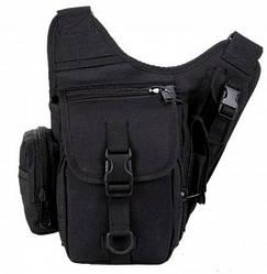 Сумка-кобура тактическая через плечо MHZ А9001, черная
