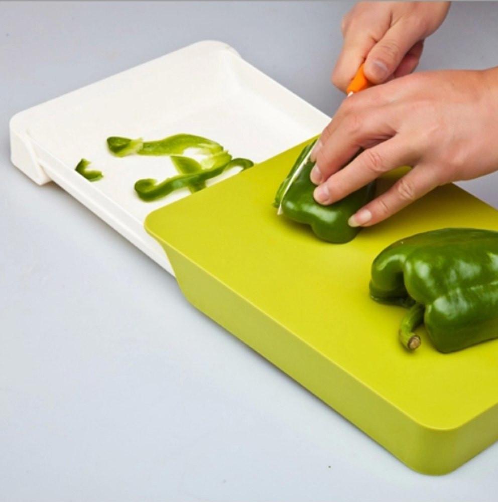 Профессиональная кухонная разделочная доска с ящиком Cut & Collect