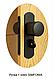 "Двери гармошка под стекло ""Vinci Decor Simfonia"" Эспрессо оригинал 100%, фото 3"