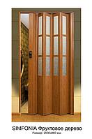 """Двери гармошка под стекло """"Vinci Decor Simfonia"""" Фруктовое дерево оригинал 100%"""