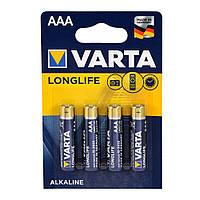 Батарейка VARTA AAA LONGLIFE LR03 4 шт. (04106101414)