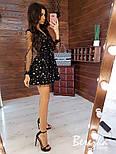 Женское платье с сеткой звезды и юбкой-солнце (2 принта), фото 3