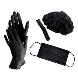 Черные маски для мастеров маникюра – стильная защита