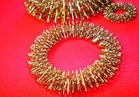 Массажное кольцо Су Джок большое для кисти / ладони омедненное, никелированное