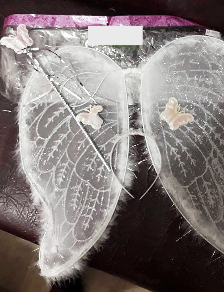 Карнавальний набір крила,обруч і паличка з метеликами