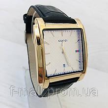Мужские наручные часы Gucci (реплика) Золото с белым циферблатом