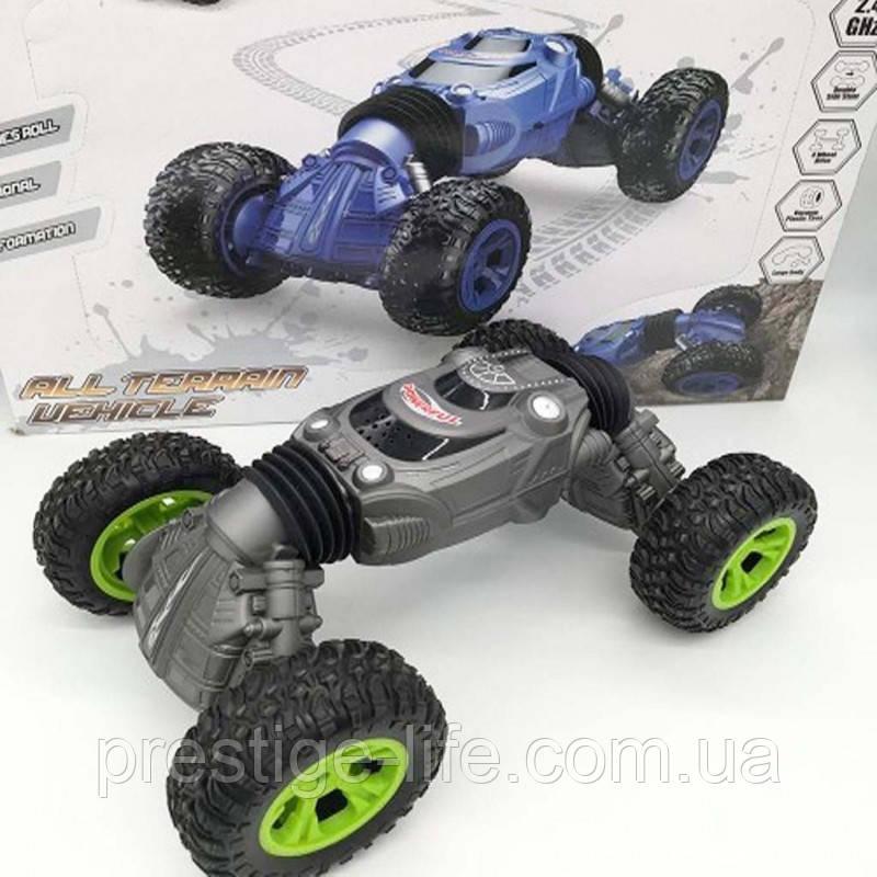 Машинка перевертыш на радиоуправлении Rock Crawler Best Toys RQ2023 Серый