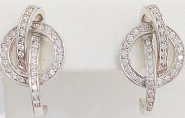 Золотые серьги с бриллиантами с140-0004