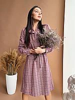 Платье в клетку женское, фото 1