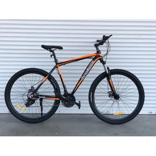 """Горный велосипед Toprider 27.5"""" 901 (чёрно-оранжевый)"""