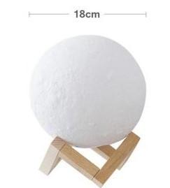 Ночник от USB Moon Lamp 3D 18 см аккумуляторный