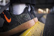 Мужские кроссовки Nike Air Force 1 Utility Low Premium Carhartt WIP Camo Green ( Реплика ), фото 2