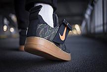 Мужские кроссовки Nike Air Force 1 Utility Low Premium Carhartt WIP Camo Green ( Реплика ), фото 3