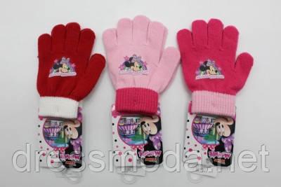 ️Перчатки вязаные для девочки Minnie 3-6 лет