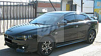 Дефлекторы окон (ветровики) Mitsubishi lancer X (митсубиси лансер Х (10) 2007+)