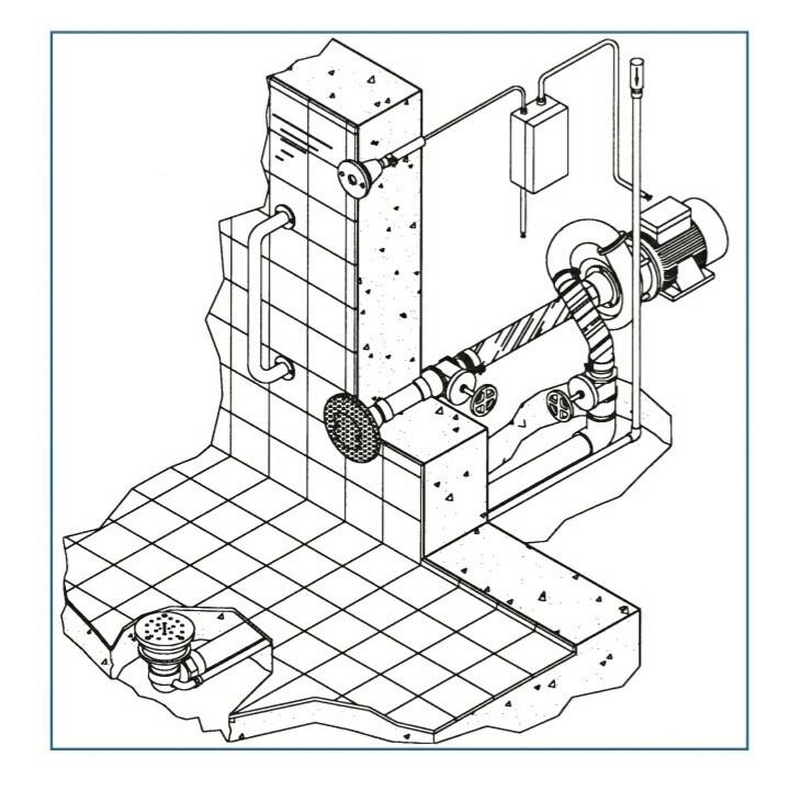 Гидромассаж донный Combi Whirl присоединительный комплект 2,2 кВт, DS Fitstar