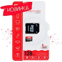 Карта памяти micro SD XO 128Gb class 10 + SD adapter