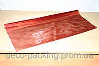 Красная органза для цветов и подарков LUXURY (роскошь)
