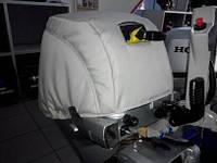 Чехол на капот лодочного мотора Honda 8 серый