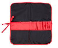 Пенал для кисточек 37х37 см, черный/красный, ROSA Studio, 231102