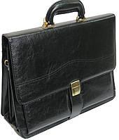 Портфель деловой из искусственной кожи 4U CAVALDI черный B005, фото 1