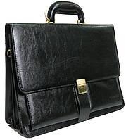 Портфель деловой из искусственной кожи 4U CAVALDI черный, фото 1