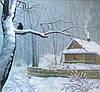Зимний пейзаж картина маслом купить